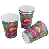 "Pappbecher ""Wilde Flower Power-Party"" 8er Pack"