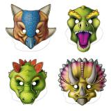 "Pappmasken ""Dinosaurier-Park"" 4er Pack"