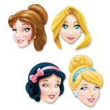 """Pappmasken """"Disney Prinzessinnen"""" 4-tlg."""
