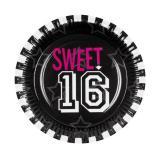 """Pappteller """"Sweet Sixteen"""" 6er Pack"""