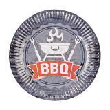 "Pappteller ""BBQ Time"" 8er Pack"