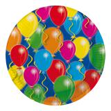 "Pappteller ""Happy Birthday Bunte Ballons"" 23 cm 8er Pack"