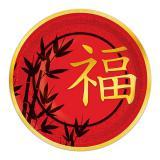 """Pappteller """"Chinesisches Neujahr"""" 8er Pack"""