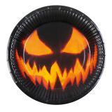 """Pappteller """"Creepy Pumpkin"""" 6er Pack"""