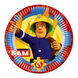"Pappteller ""Mutiger Feuerwehrmann Sam"" 8er Pack"
