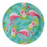 """Pappteller """"Flamingo Paradise"""" 8er Pack"""