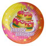 """Pappteller """"Happy Birthday Kuchen"""" 8er Pack"""