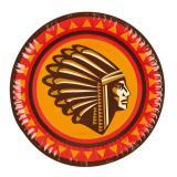 "Pappteller ""Indianerleben"" 6er Pack 23 cm"