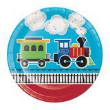 """Pappteller """"Kunterbunte Eisenbahn"""" 8er Pack"""