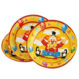 """Pappteller """"Lustiger Clown"""" 8er Pack"""