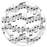 Pappteller Musiknoten 23 cm 8er Pack