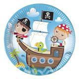 """Pappteller """"Niedliche Piraten"""" 8er Pack"""