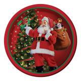 """Pappteller """"Nostalgie Weihnachtsmann"""" 8er Pack"""