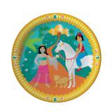 """Pappteller """"Orientalische Prinzessin"""" 8er Pack"""