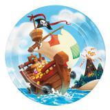 "Pappteller ""Piraten auf großer Fahrt"" 8er Pack"