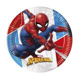 Pappteller Spiderman in Action 8er Pack