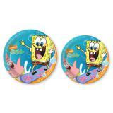 """Pappteller """"Spongebob"""" 10er Pack"""