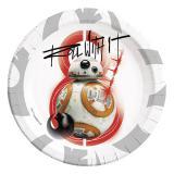"""Pappteller BB-8 - """"Star Wars - Die letzten Jedi"""" 8er Pack"""