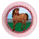 """Pappteller """"Süße Pferde"""" 8er Pack"""