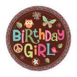 """Pappteller """"Sweet Retro - Birthday Girl"""" 8er Pack"""
