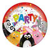 """Pappteller """"Tierischer Partyspaß"""" 8er Pack"""