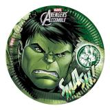 "Pappteller ""Ultimative Avengers - Hulk"" 8er Pack"