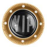 """Pappteller """"VIP"""" 6er Pack 23 cm"""