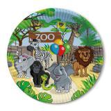 """Pappteller """"Willkommen im Zoo"""" 8er Pack"""