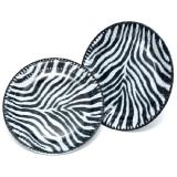 """Pappteller """"Zebra-Look"""" 10er Pack"""
