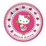 """Kleine Pappteller """"Hello Kitty im Herzchenparadies"""" 8er Pack"""