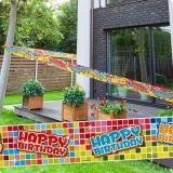 "Party-Absperrband ""Happy Crazy Birthday"" 7 m"