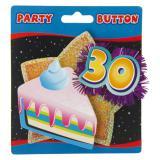 Party-Button 30. Geburtstag mit Lametta