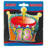 Party-Button 3D 18. Geburtstag 11 cm