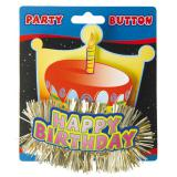 Party-Button 3D Happy Birthday 11 cm