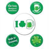 "Party-Buttons ""St. Patrick's Day"" 5-tlg."
