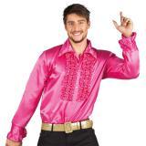 """Party-Hemd mit Rüschen """"Pink"""""""