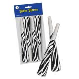 "Party-Tröten ""Zebra-Look"" 4er Pack"