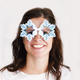 """Partybrille """"Schneeflocken"""" 15 cm"""