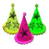 """Partyhütchen """"Neon"""" 3er Pack"""