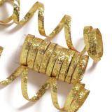 Einfarbige Glitzer Luftschlangen-gold