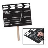 """Personalisierbares Raumdeko Schild """"Filmklappe Hollywood"""" 56 cm"""