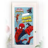 "Personalisierbare Tür-Deko ""Spiderman - Web Warriors"" 76 x 152 cm"