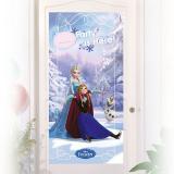 """Personalisierbare Tür-Deko """"Die bezaubernde Eiskönigin - Disney"""" 76 x 152 cm"""