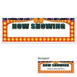 """Personalisierbares Banner """"NOW SHOWING"""" 152 cm x 53 cm"""