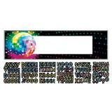 "Personalisierbares Banner ""Buntes Disco Fever"" 165 x 51 cm"