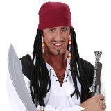 """Perücke """"Piraten Kapitän"""" mit Bandana"""