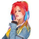 Perücke Punk-Lady Rainbow