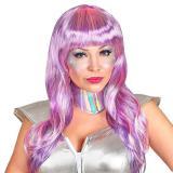 Perücke Space-Girl mit Kragen 2-tlg.
