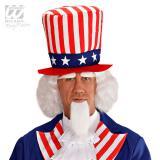 """Perücke """"Uncle Sam"""" mit Bart und Augenbrauen 4-tlg."""