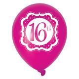 "Luftballons ""Pretty Pink"" 16. Geburtstag 6er Pack"